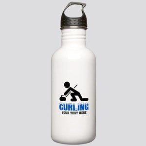 Curling Personalized Stainless Water Bottle 1.0L